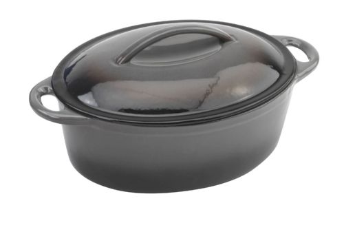 Provencale Oval Casserole & Cover Black - MORE OPTIONS